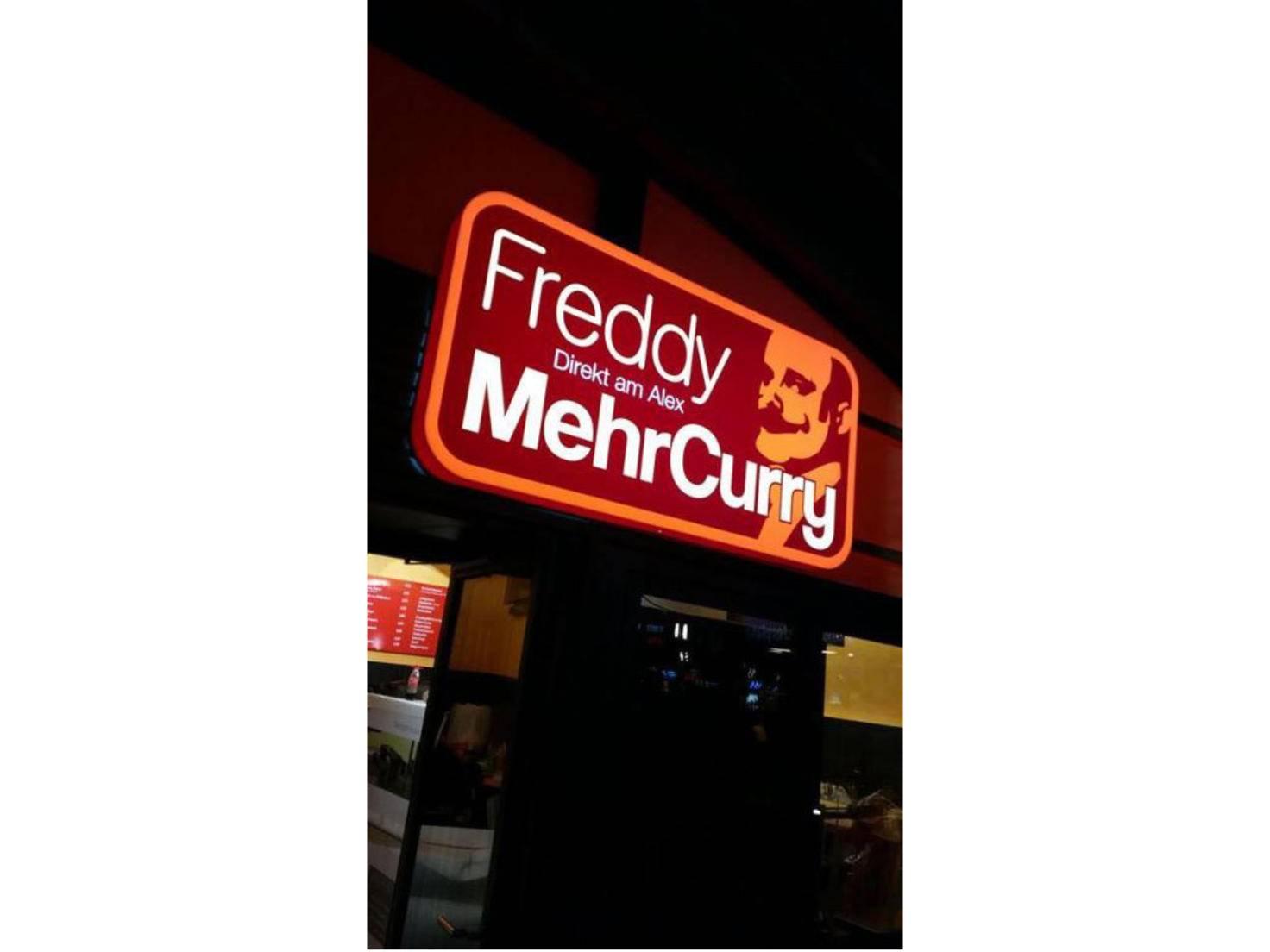 Gegen leeren Magen hat Freddy MehrCurry was...