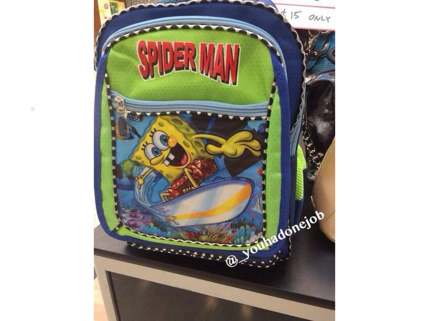 Für Kinder mit Stil gibt es den Spider-Sponge-Rucksack...