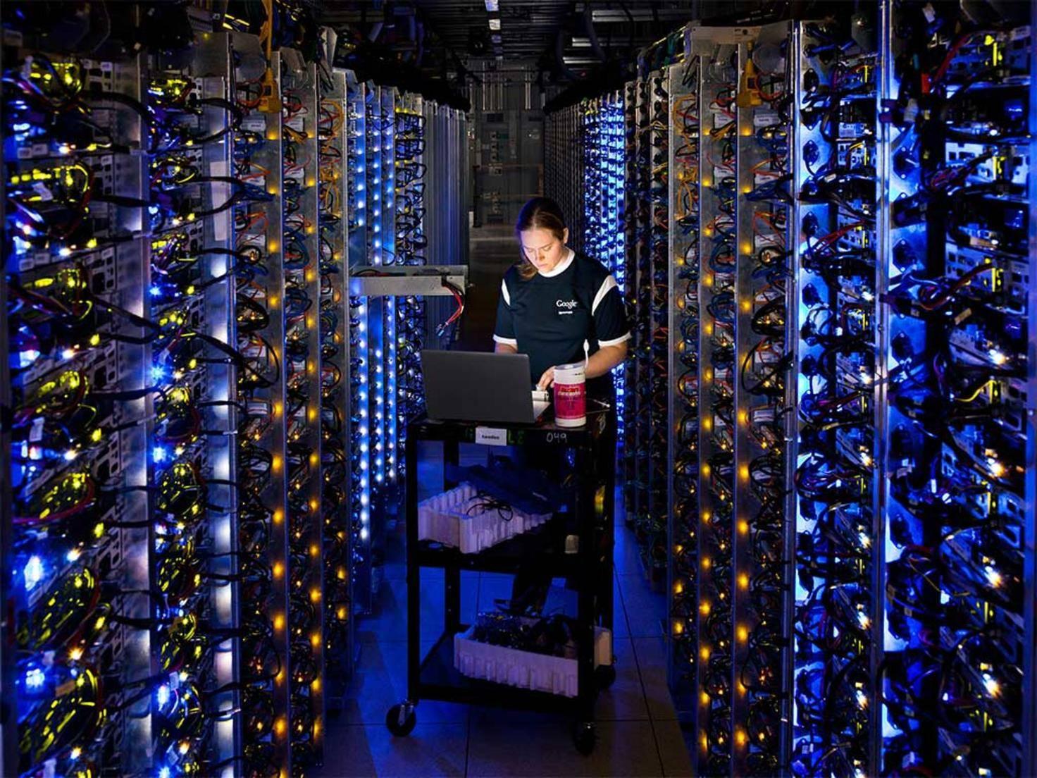 Private Cloud: Google Rechenzentrum Server in The Dalles, Oregon