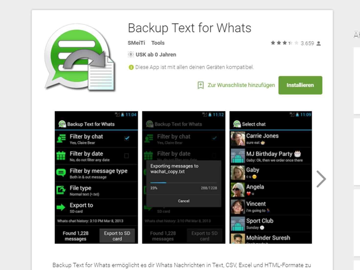 WhatsApp Export
