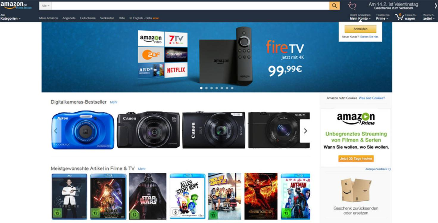 Heute bietet Amazon nahezu alles an.