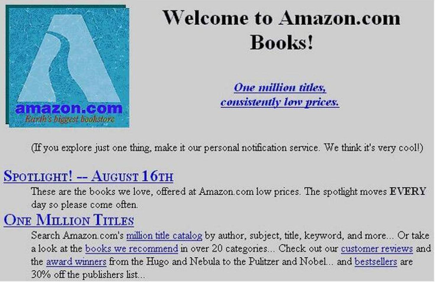 1995 verkaufte Amazon nur Bücher.