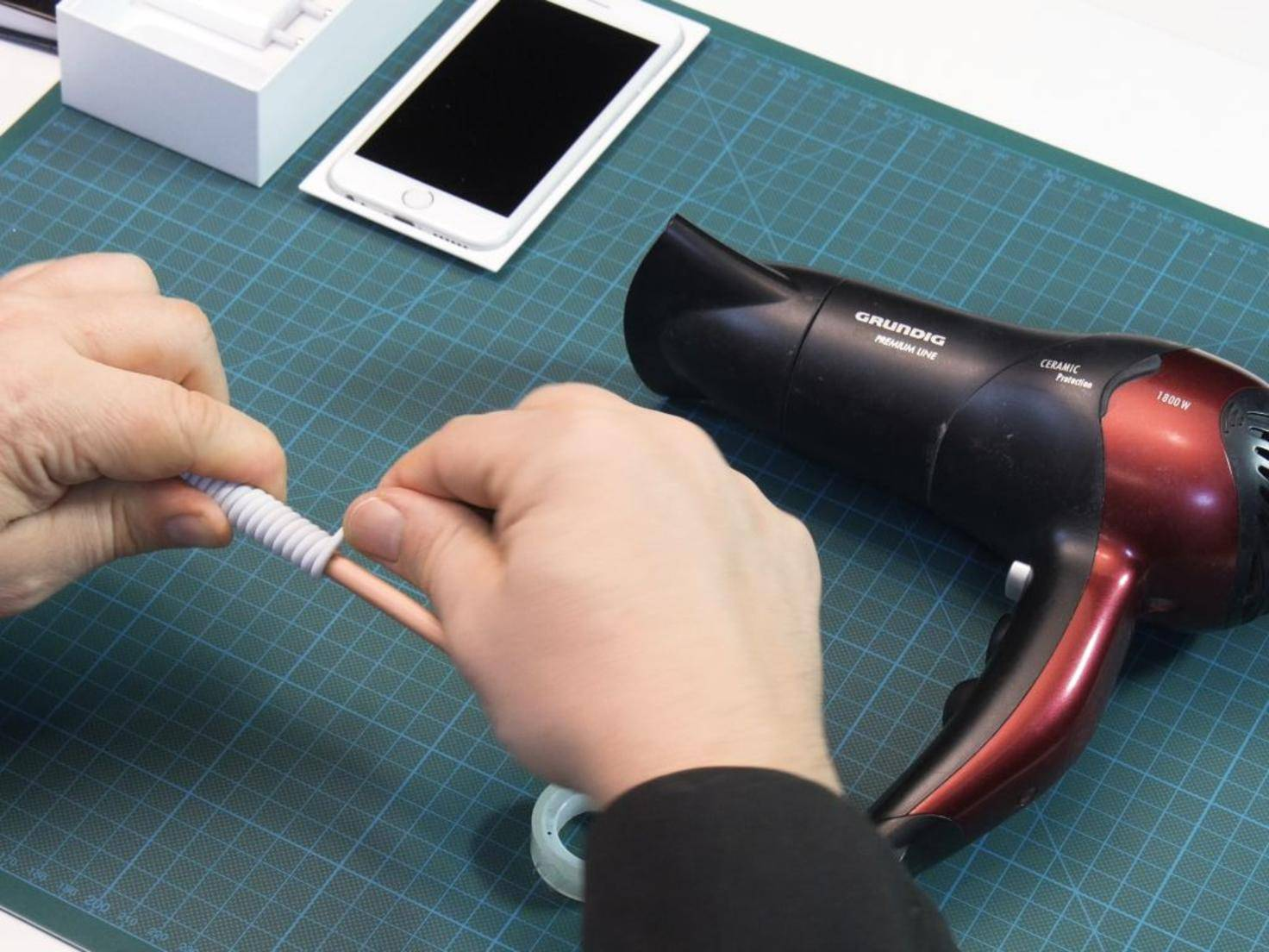DIY-Spiralkabel iPhone 6s 8