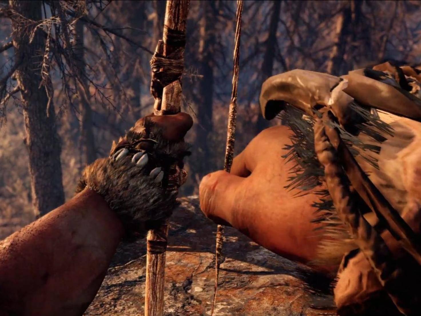 """Statt Schusswaffen gibt es in """"Far Cry Primal"""" Pfeil und Bogen, ..."""