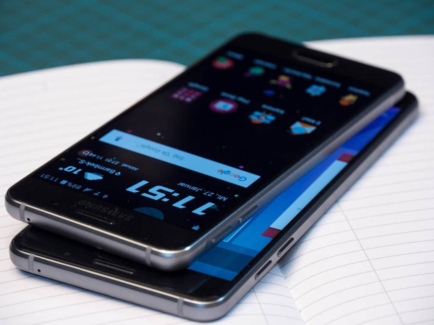 Optisch orientieren sich A3 und A6 am Galaxy S6.