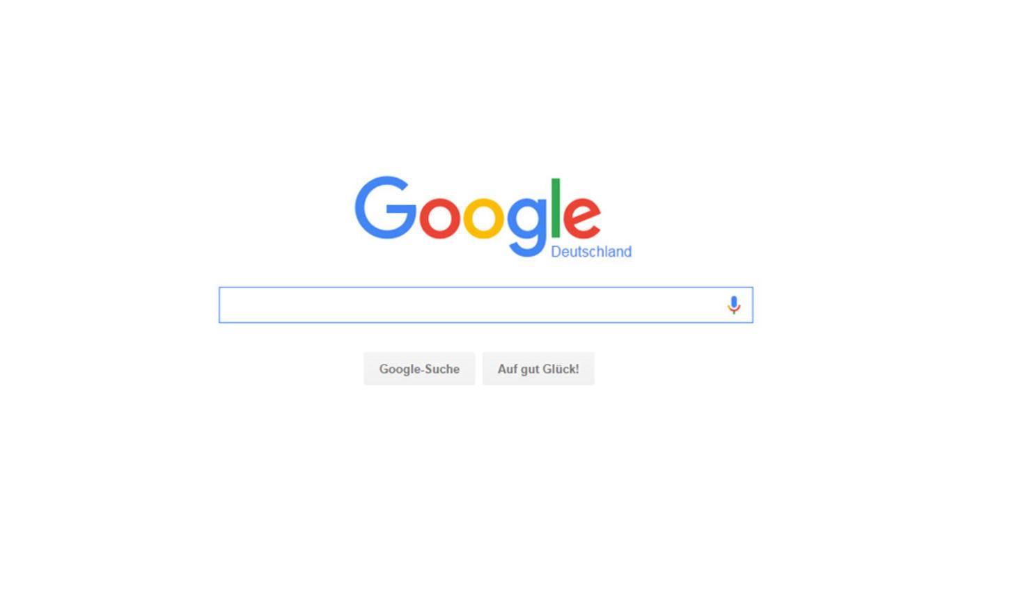 Ablenkungsfreie Suche: Google weiß, was die Nutzer wollen.