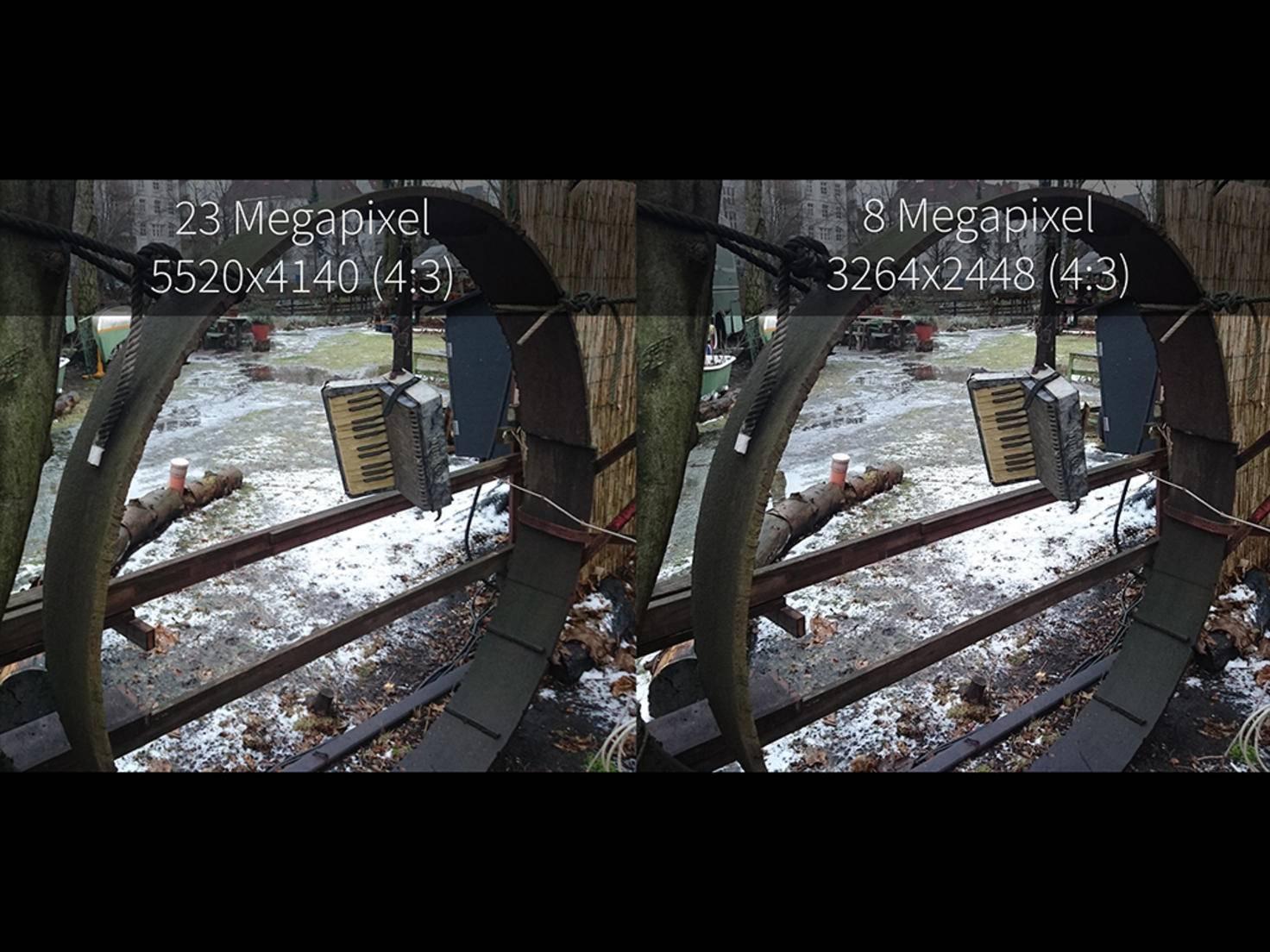 Standardmäßig macht das Xperia Z5 Premium Fotos mit 8 Megapixel.