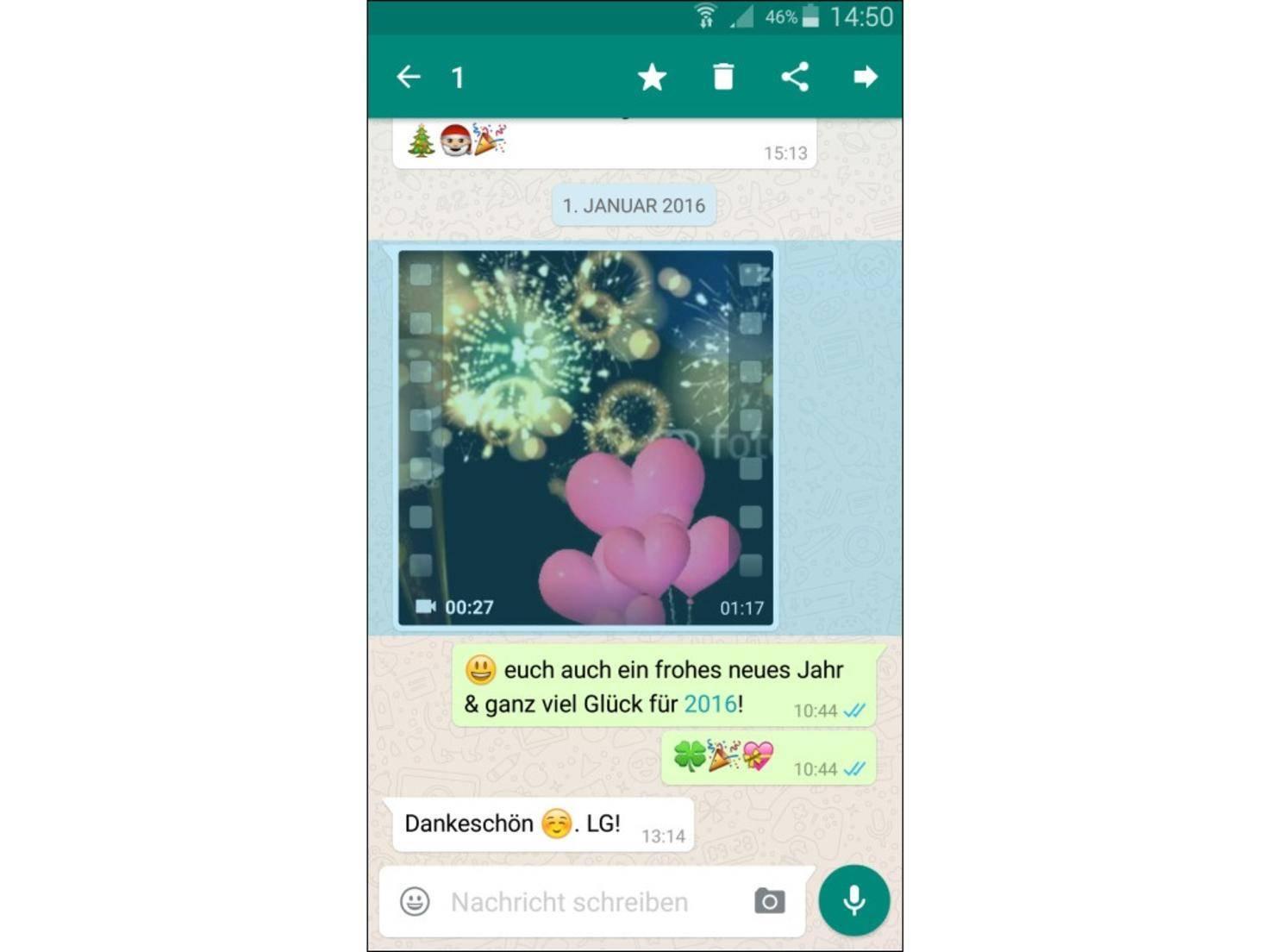 WhatsApp Videos verschicken 1