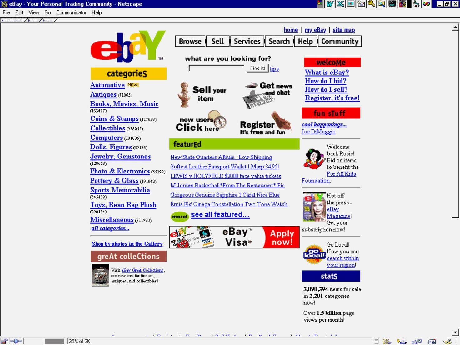 1995 war Ebay noch mehr Flohmarkt als heute.