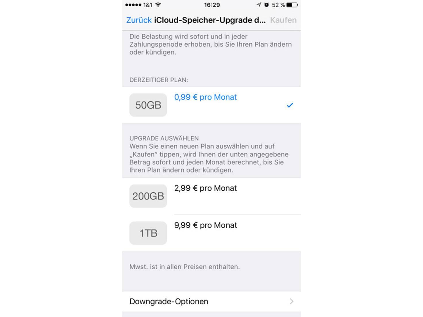 iCloud-Upgrade