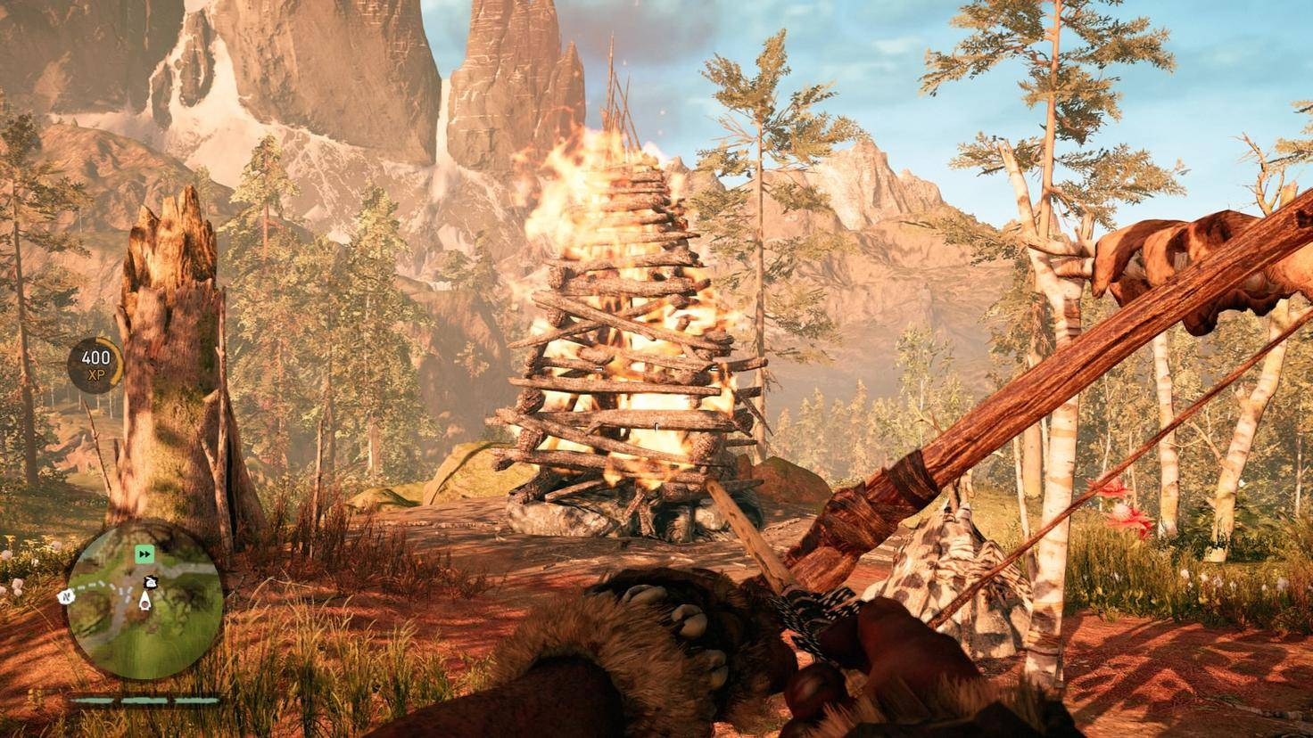 """Leuchtfeuer dienen in """"Far Cry Primal"""" als Schnellreise-Punkte."""