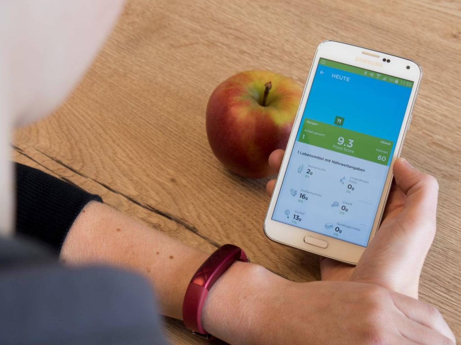 Die App zum Jawbone Up3 hilft auch bei einer gesünderen Ernährung.