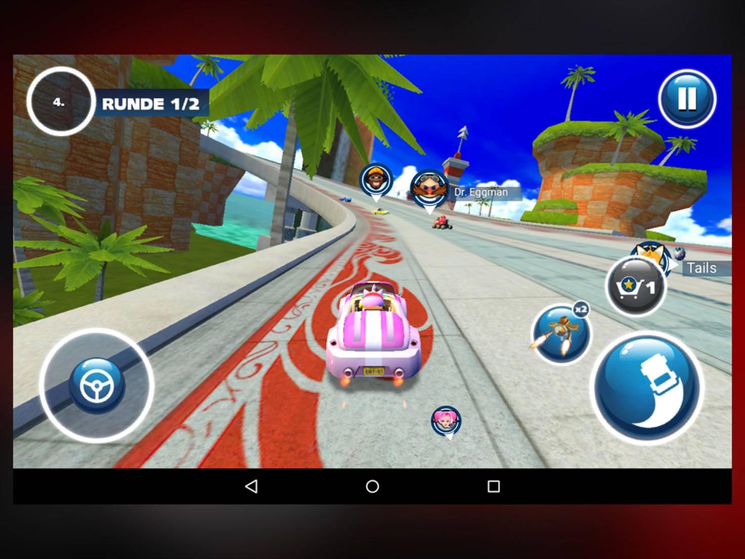 """""""Sonic"""" gibt auf dem Predator Gas."""