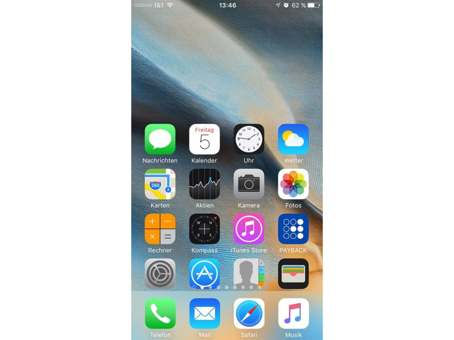 iOS-Einhand