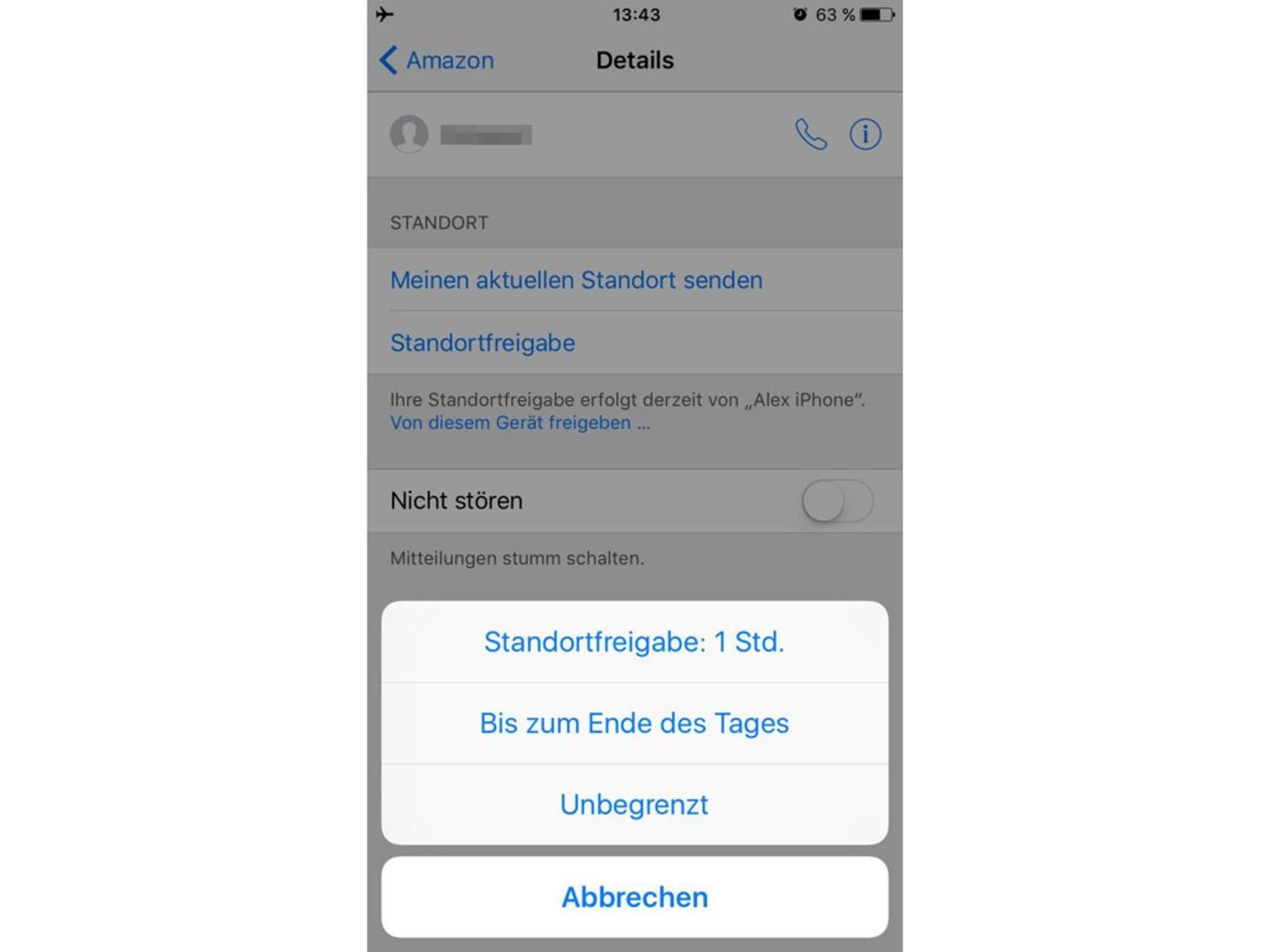 iOS-Standortfreigabe