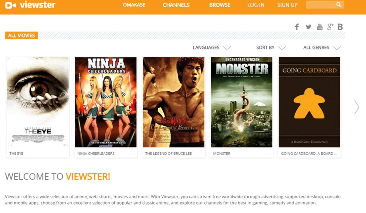 Viewster.com Screenshot