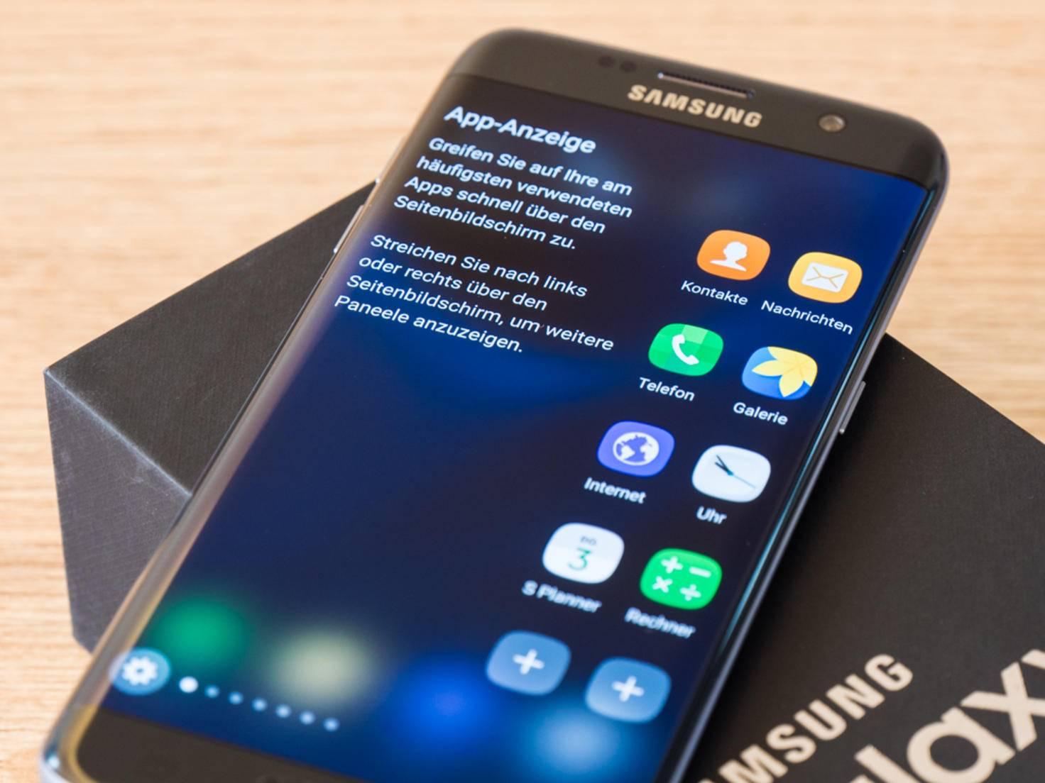 Das Galaxy S7 Edge ist größer und teurer als das Standard-Modell.