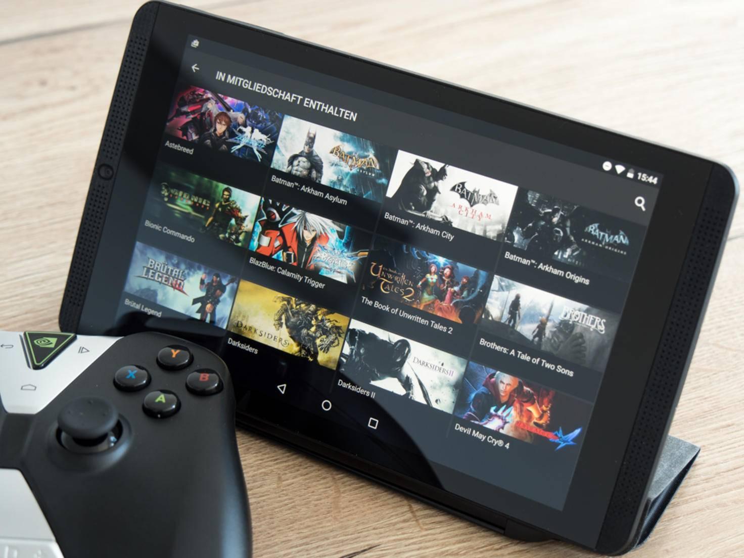 GeForce Now bringt PC-Spiele auf das Tablet.