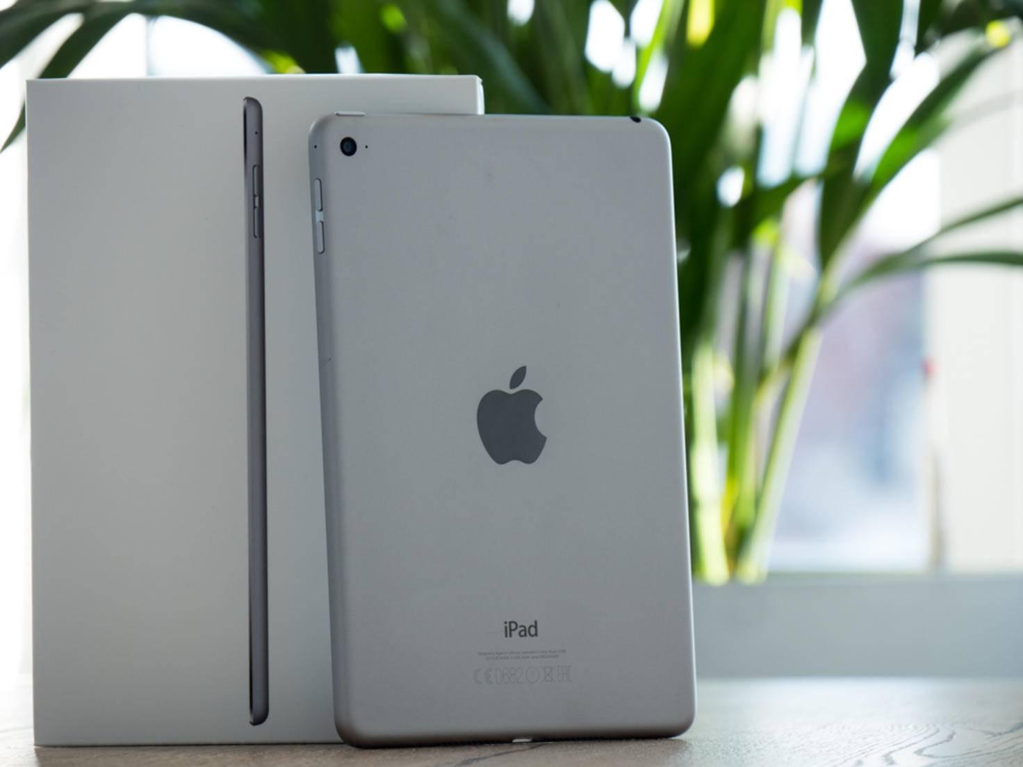 Ikonisches Design: Das iPad Mini 4 kommt im klassischen Apple-Look daher.