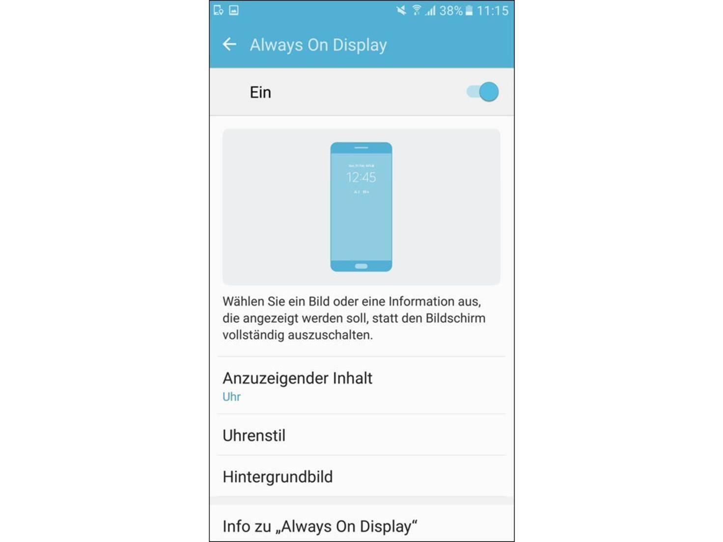 Das Always On Display hat Samsung neu mit dem Galaxy S7 eingeführt.