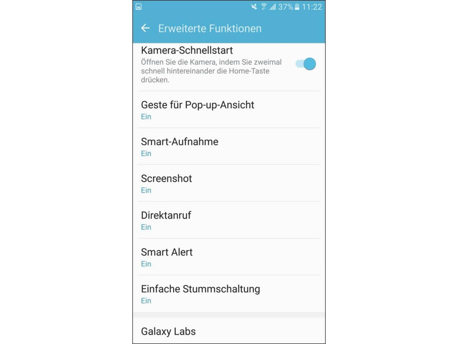 Ein Screenshot entsteht per Handgeste oder Tastenkombi.