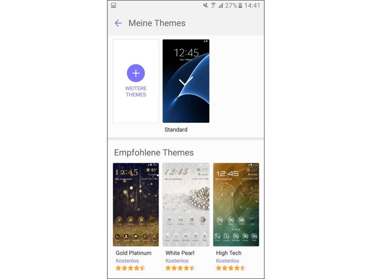 Neue Themes finden sich im Galaxy App Store.