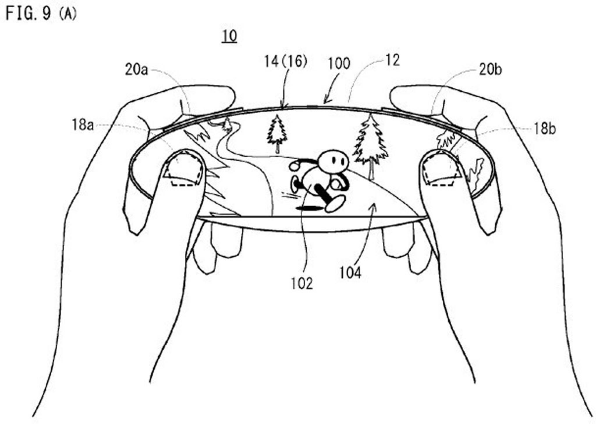 Das ist das Patent, dem das geleakte Bild ähnelt, und ...