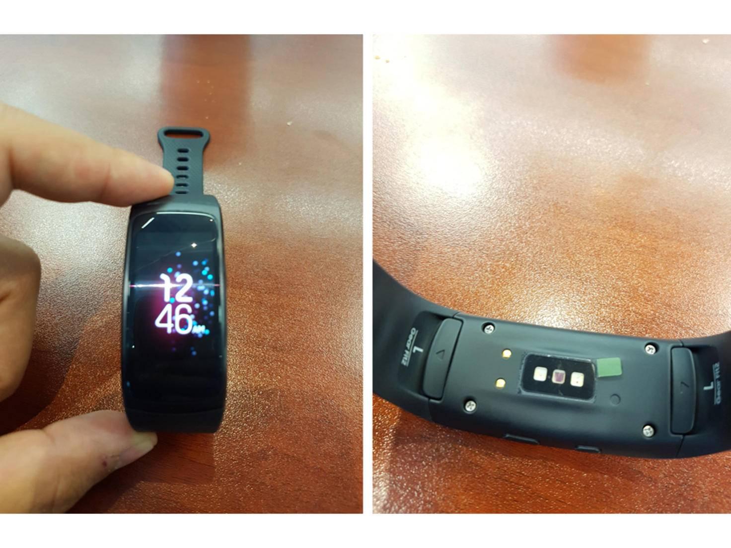 Im Fokus steht das Samsung Gear Fit 2.