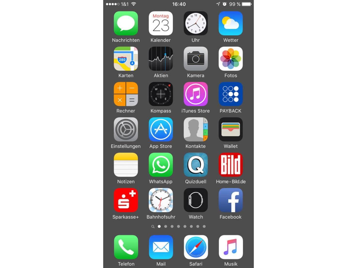 Iphone hintergrund ohne dock