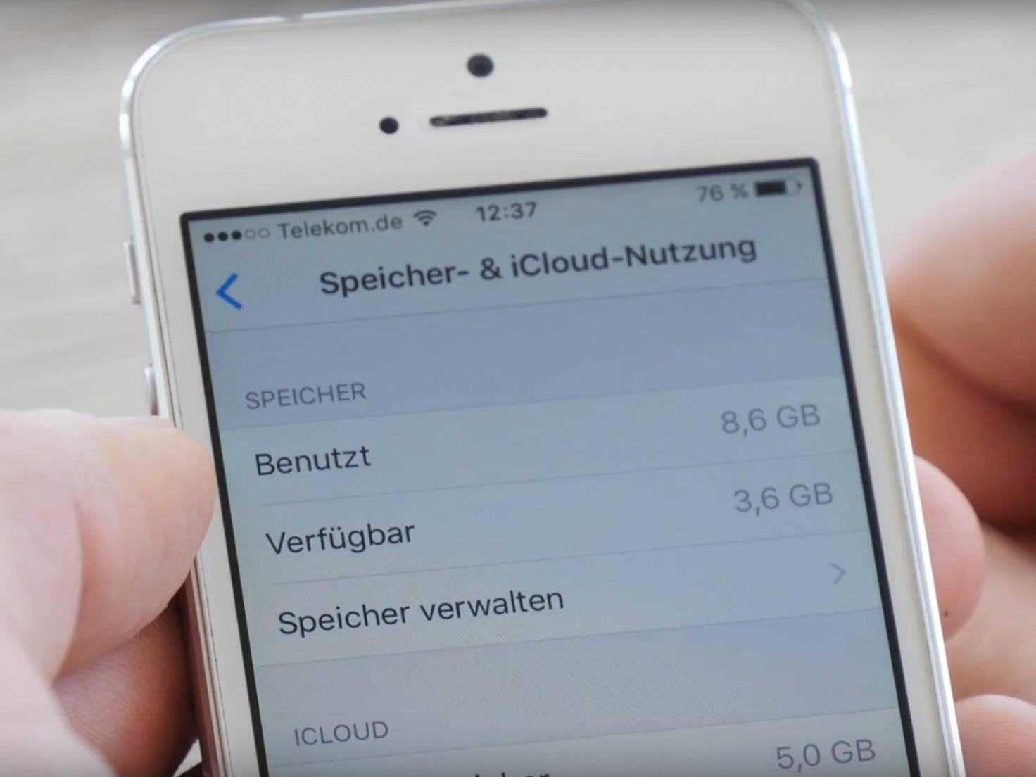 iPhone-Speicher