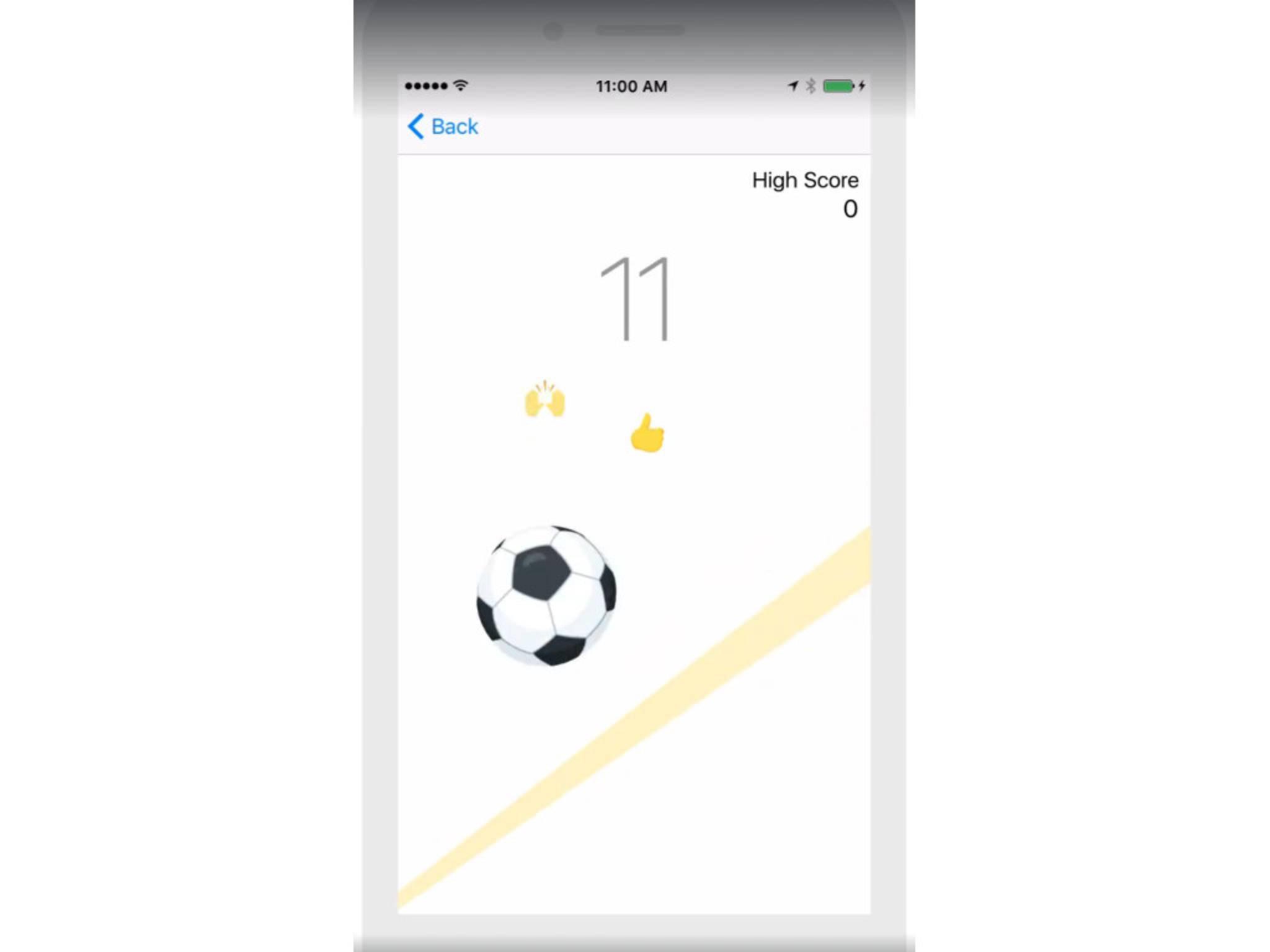 Facebook Messenger Fußball Mini-Game