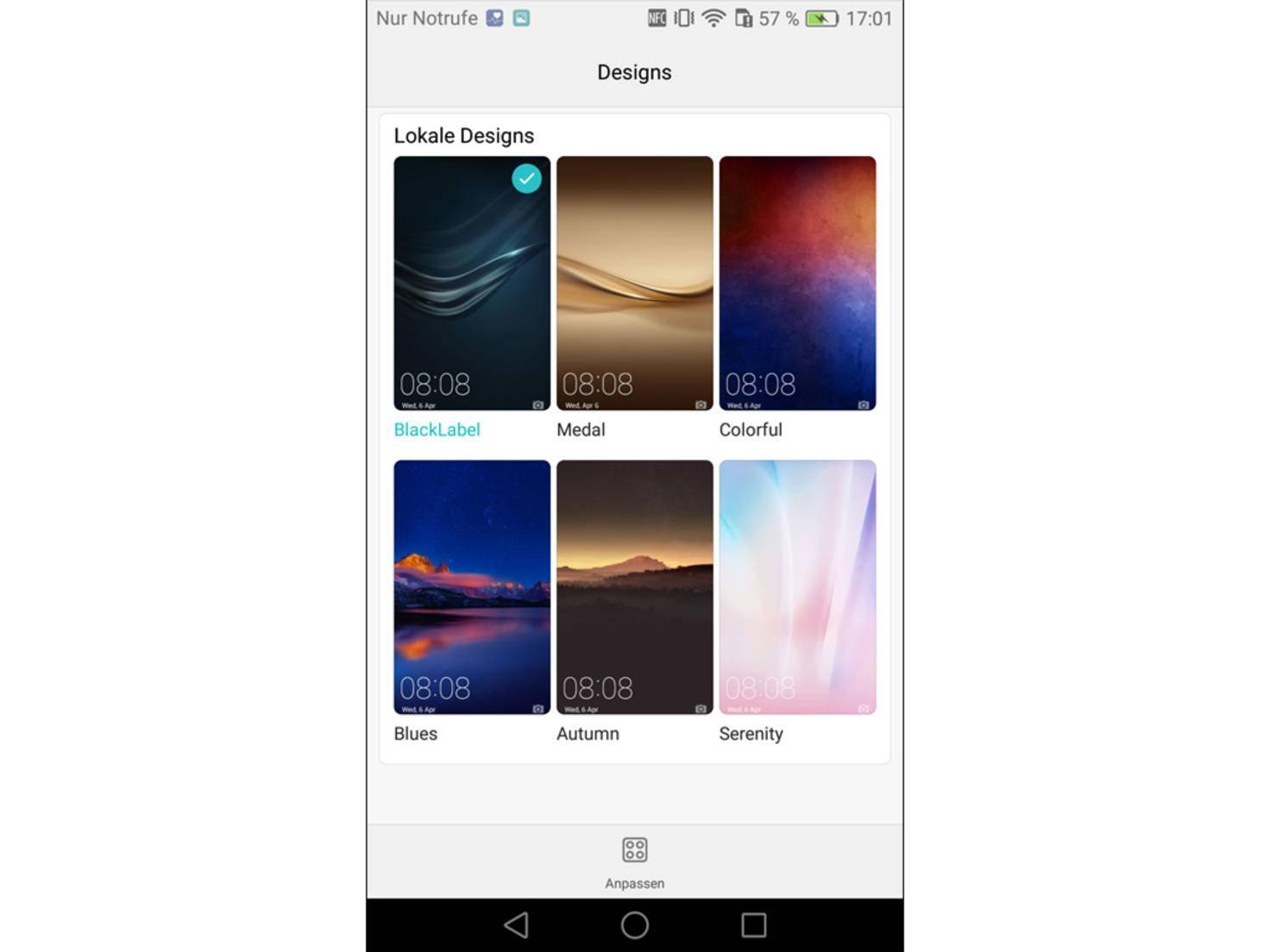 Samsung hintergrund wechselt