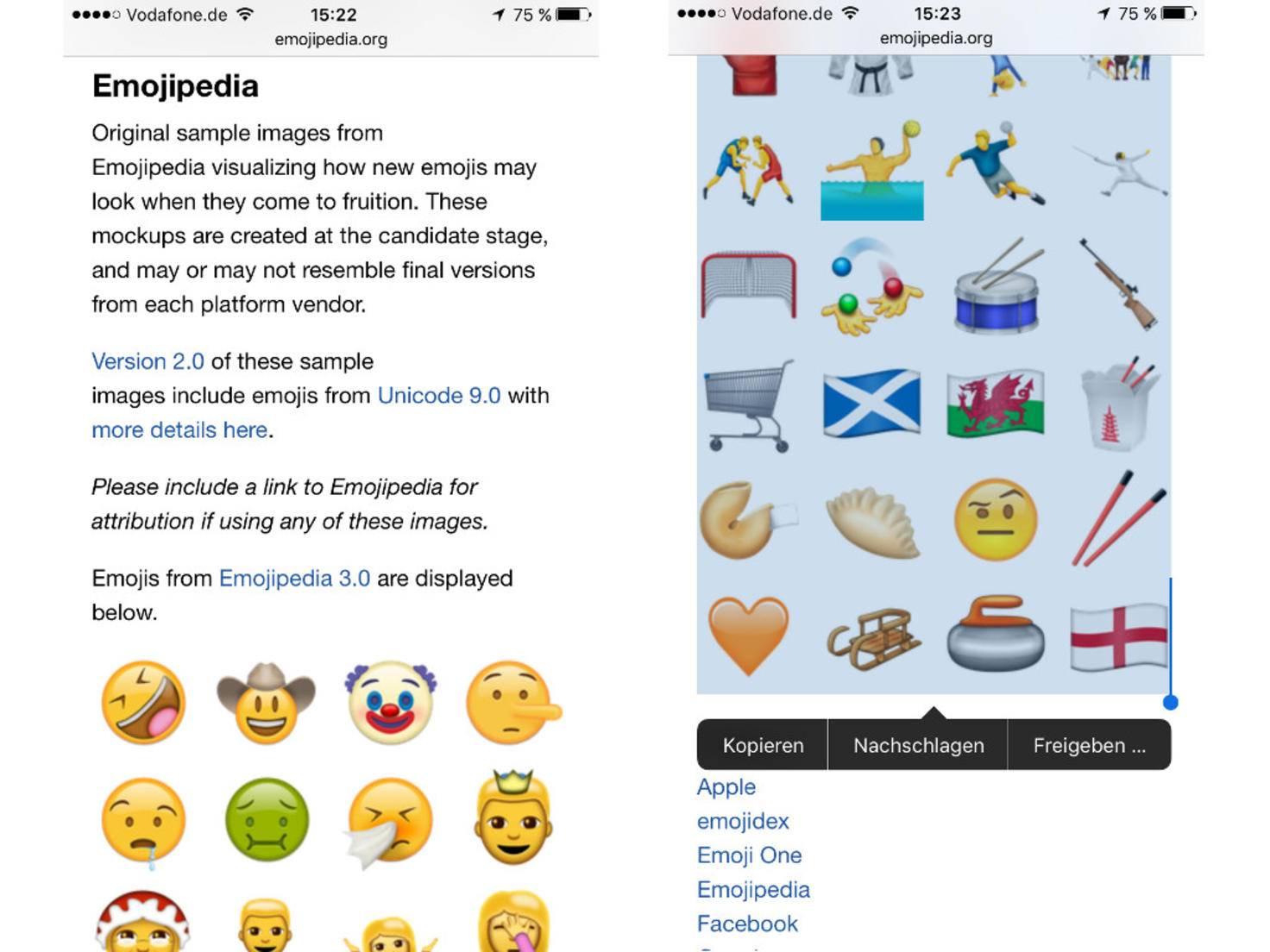 Neue Emoji nutzen 1