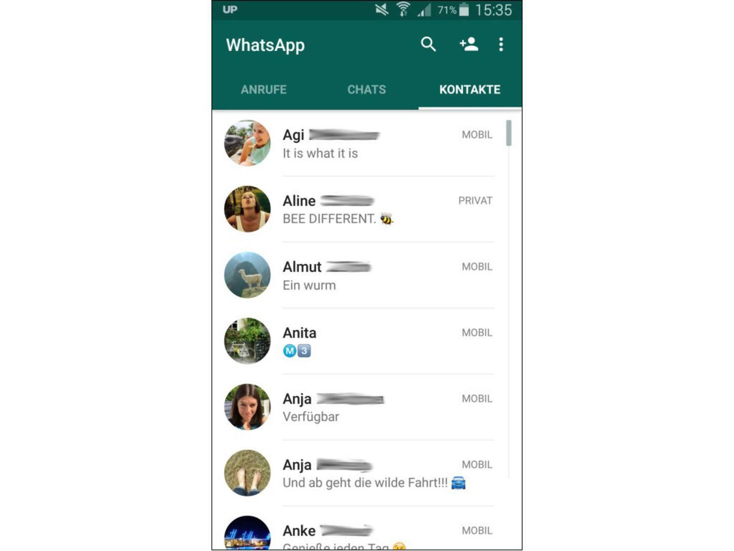 Kontakte sehen blockierte profilbild whatsapp WhatsApp Kontakt