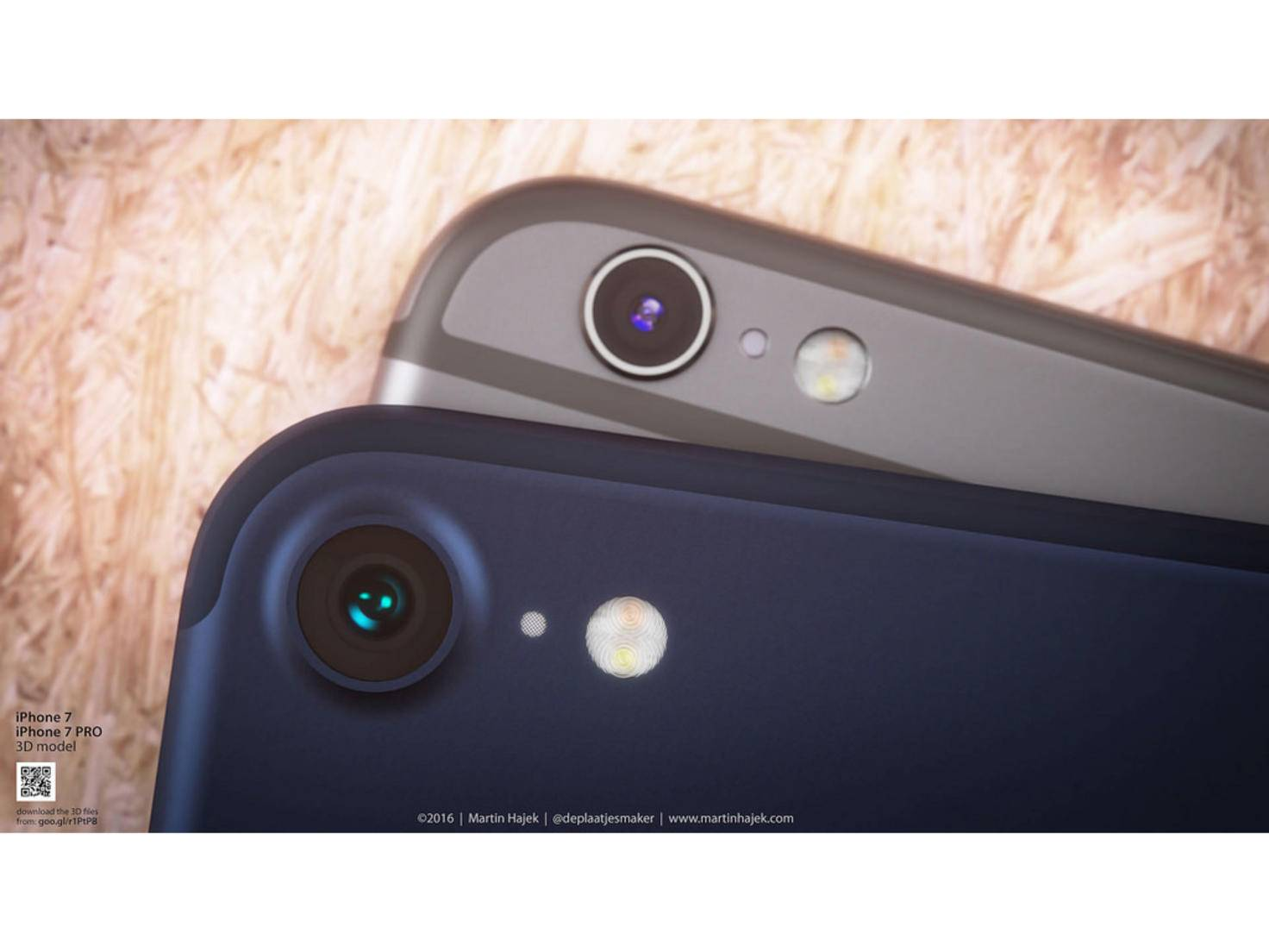 So stellt sich Martin Hajek iPhone 7 und iPhone 7 Plus in Deep Blue vor.