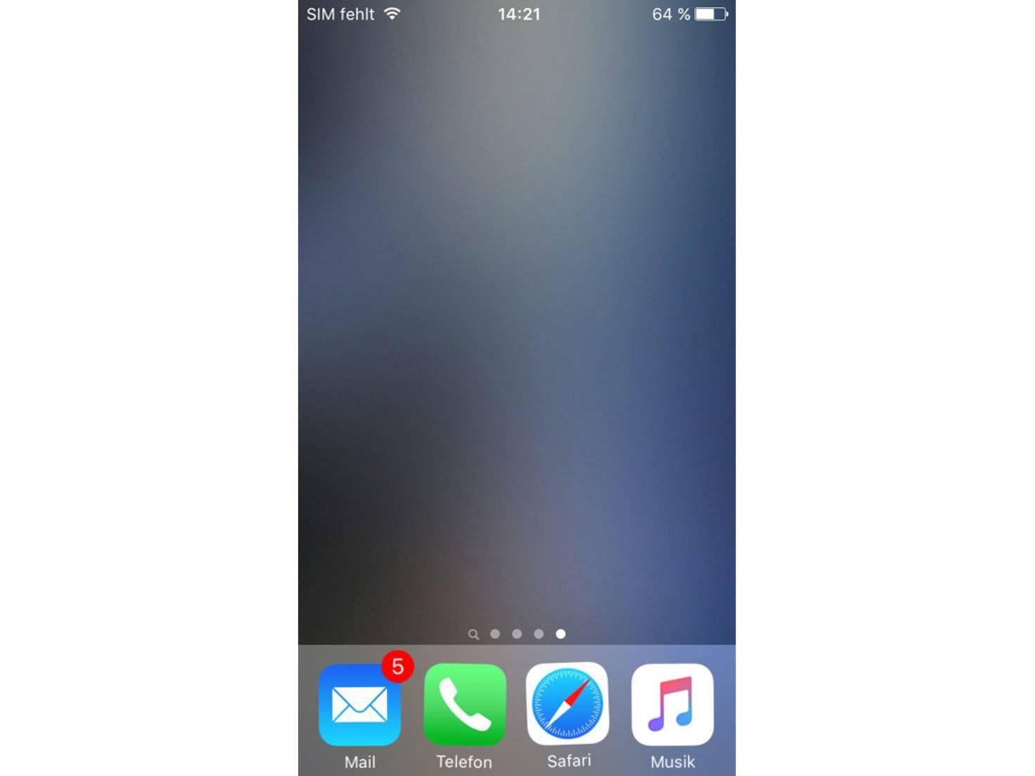 Von einer leeren Seite wird ein Screenshot angefertigt.