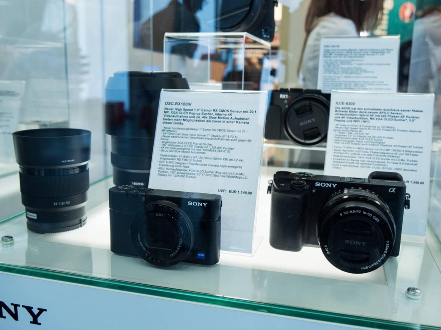 Zu sehen gab es aber auch Kameras...