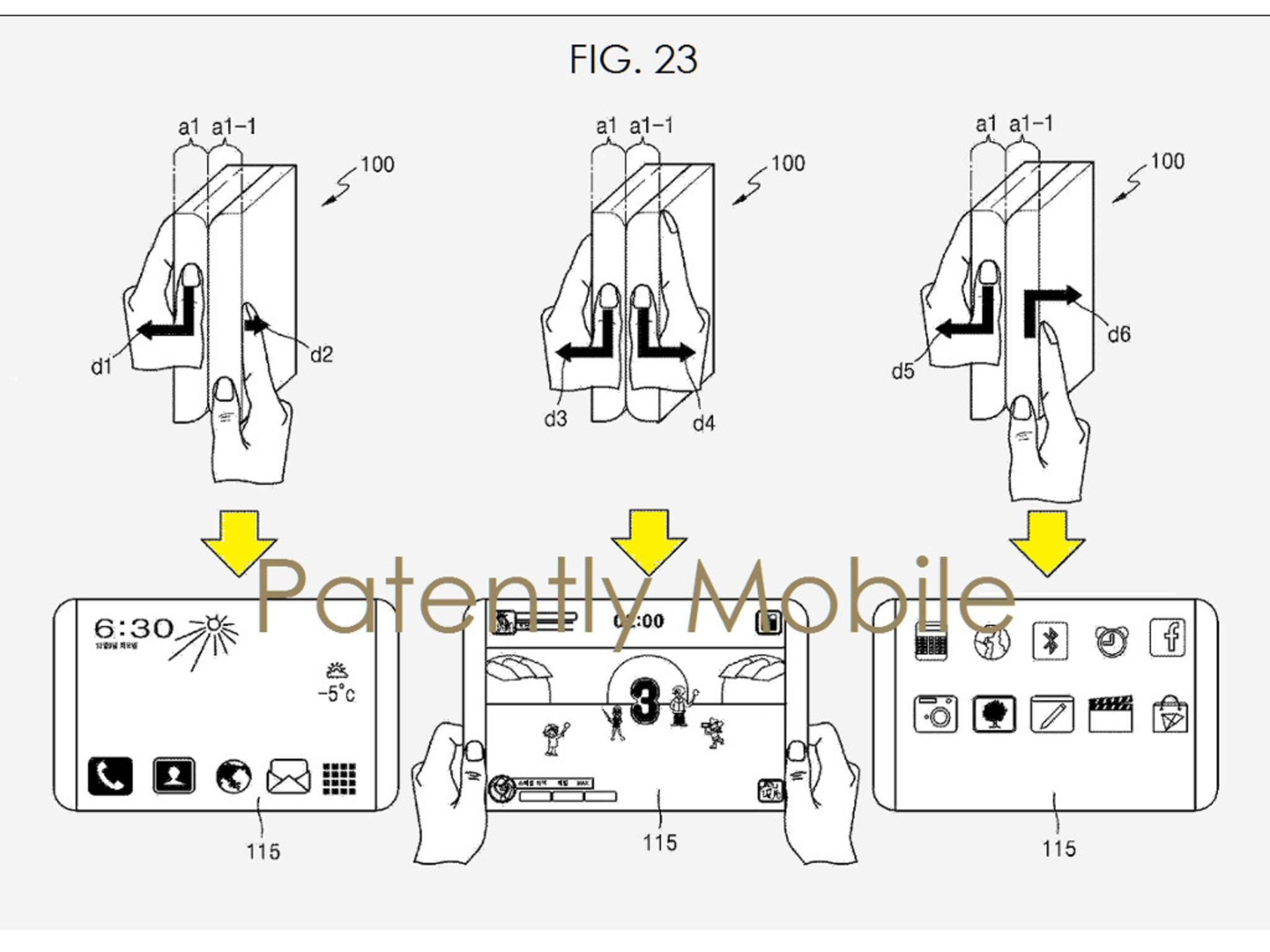 Samsung faltbare Displays