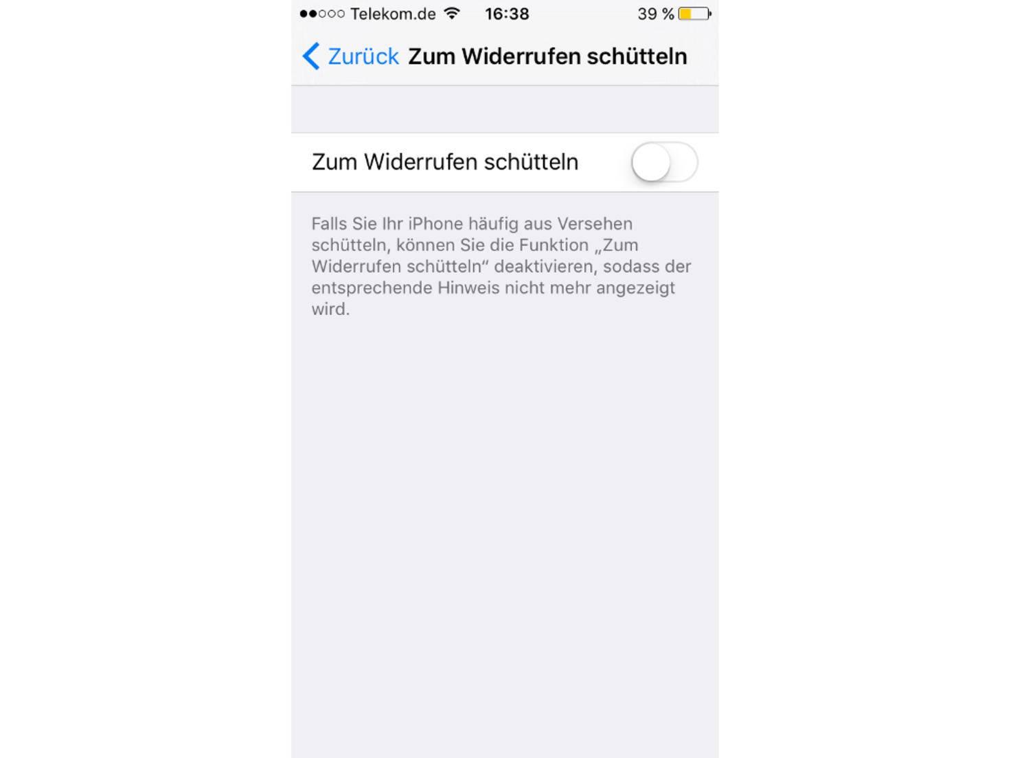 Schütteln iOS