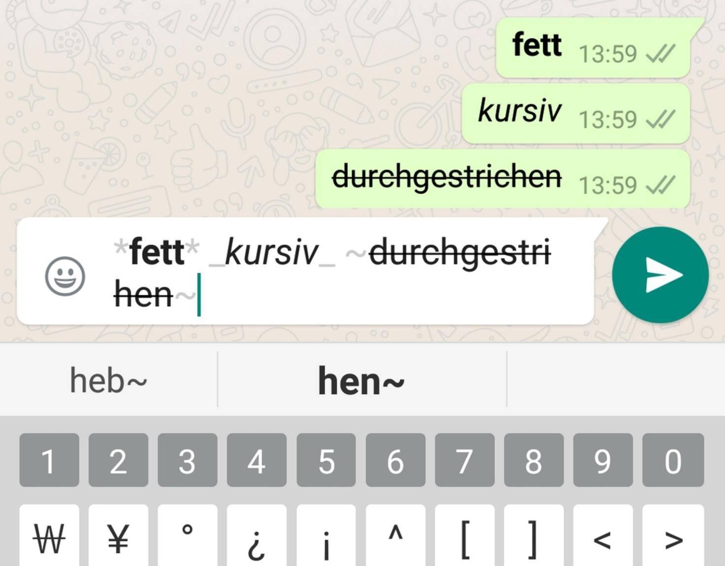 WhatsApp_formatieren