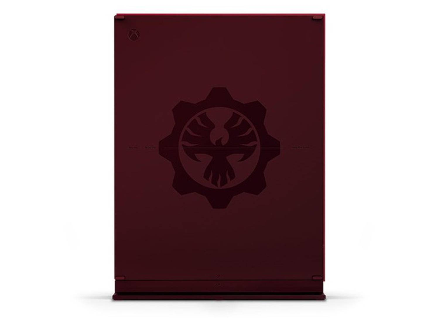 Xbox One S Gears of War 4 Limited Edition back