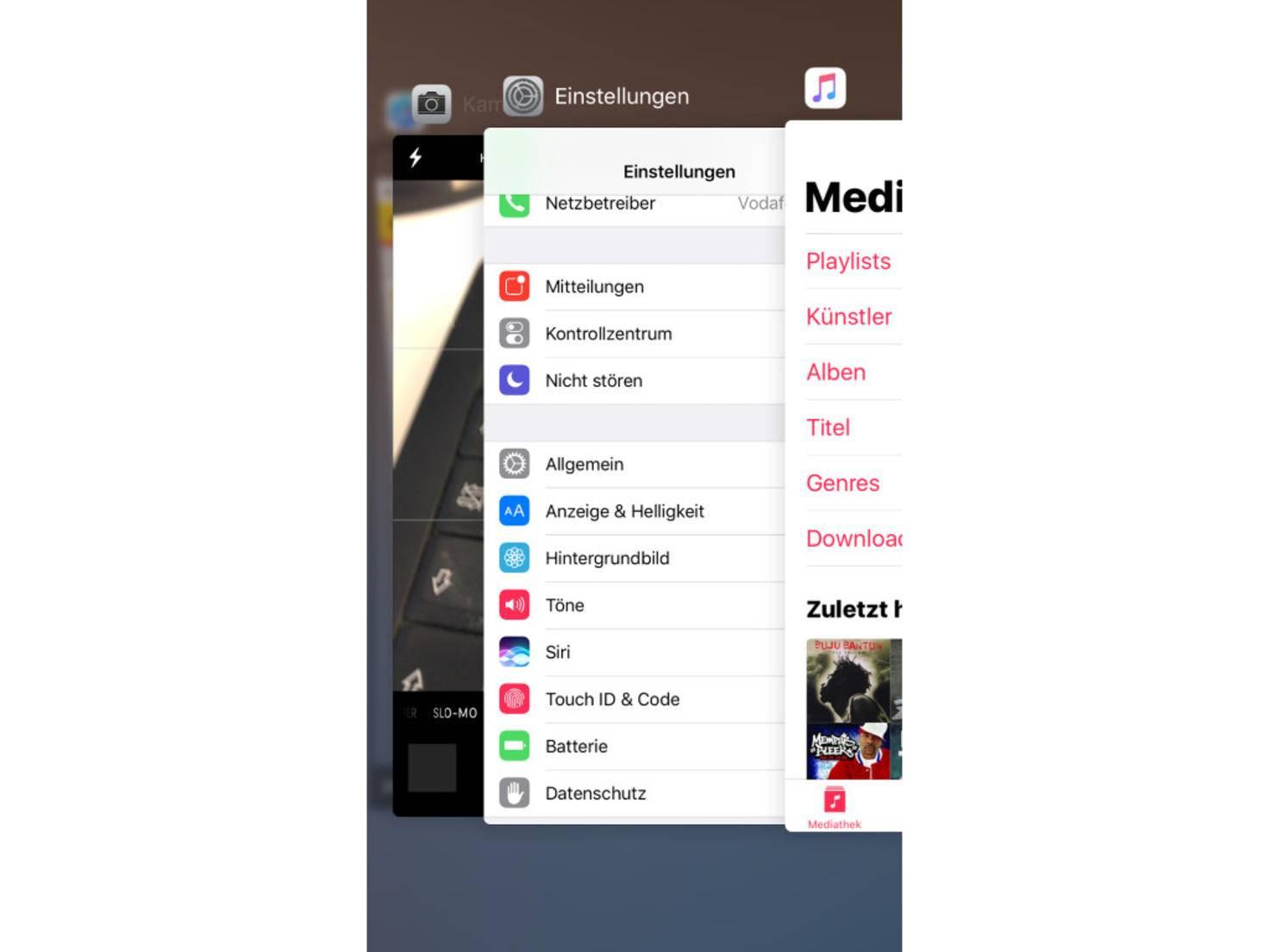iOS 10 App-Wechsel