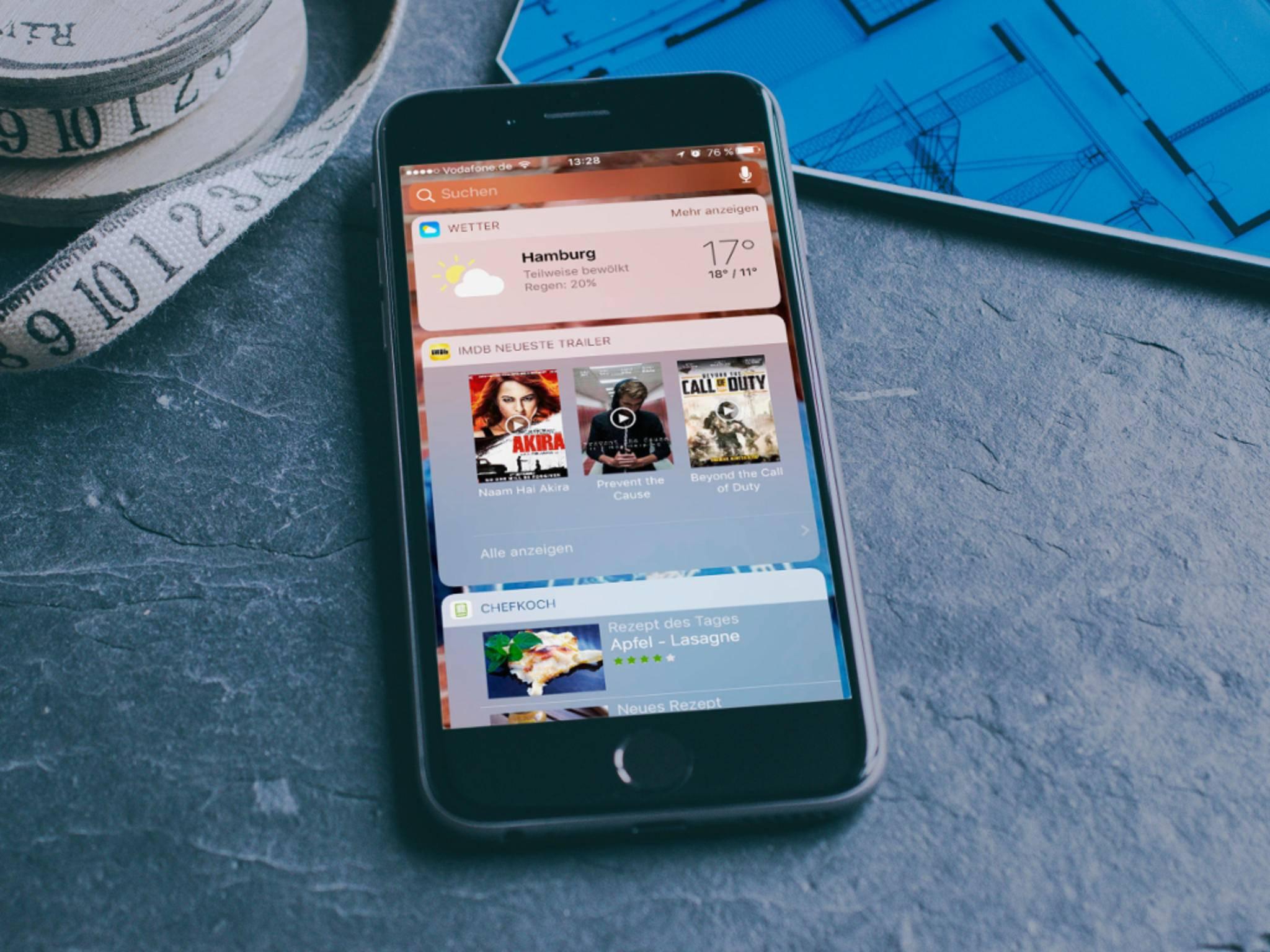 iOS 10 Mockup