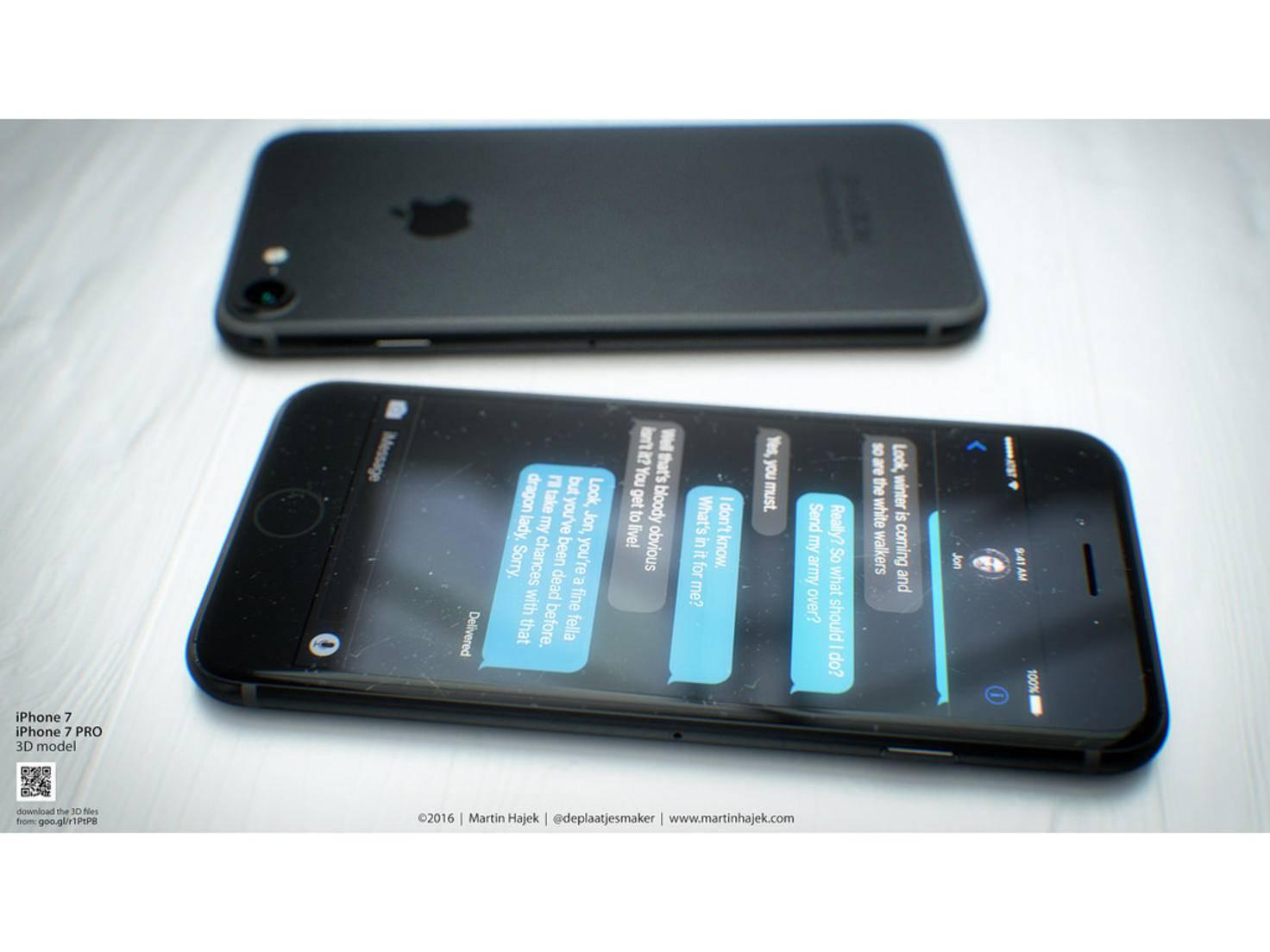 Wird so das iPhone 7 in Schwarz aussehen?