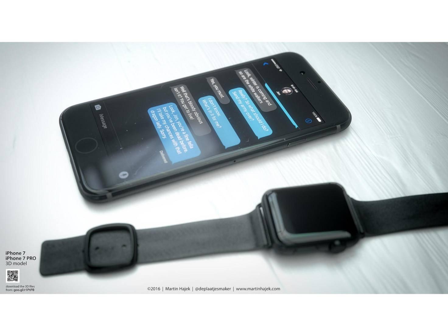 Farblich orientierte er sich an der Apple Watch in Space Black.