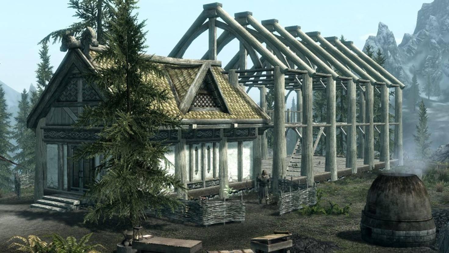 """Den Hausbau in """"Skyrim"""" hatten sich viele Spieler etwas umfangreicher und kreativer vorgestellt."""