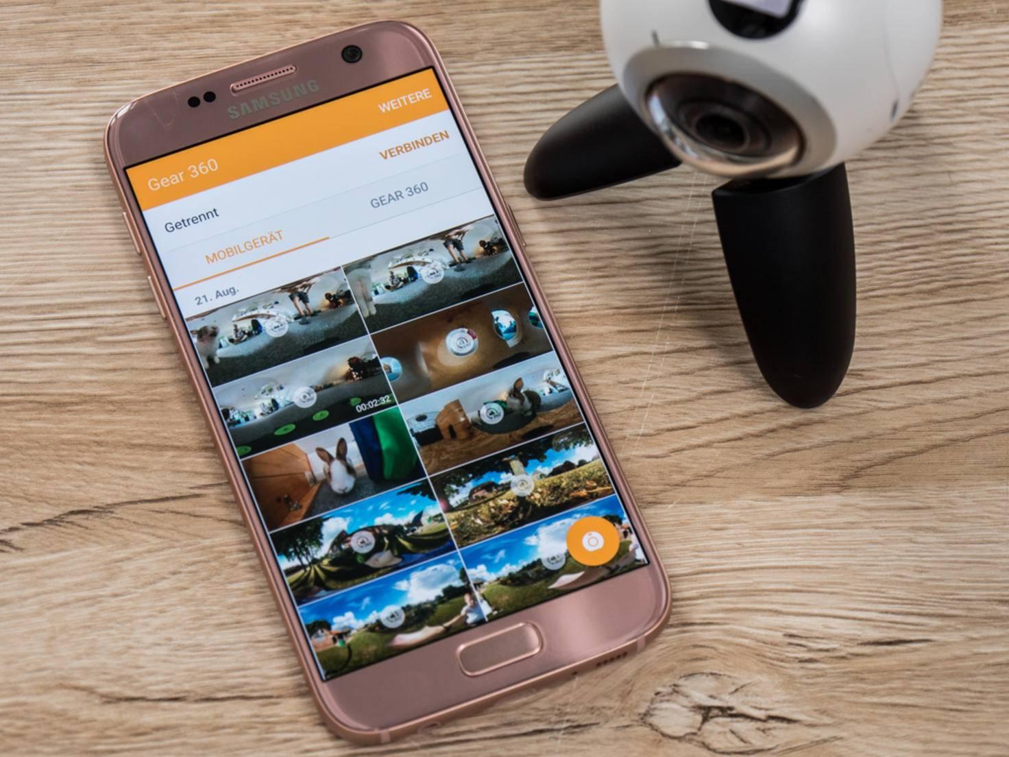 Aufgenommene Videos können auf dem Smartphone gespeichert...