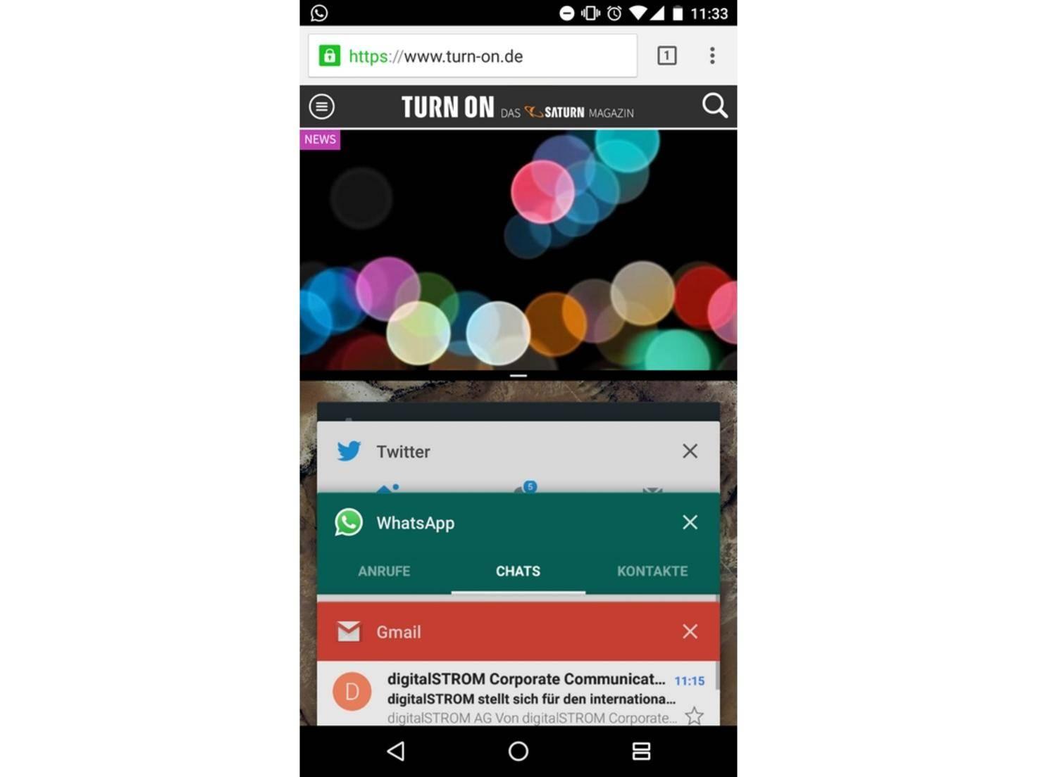 Android 7 Splitscreen