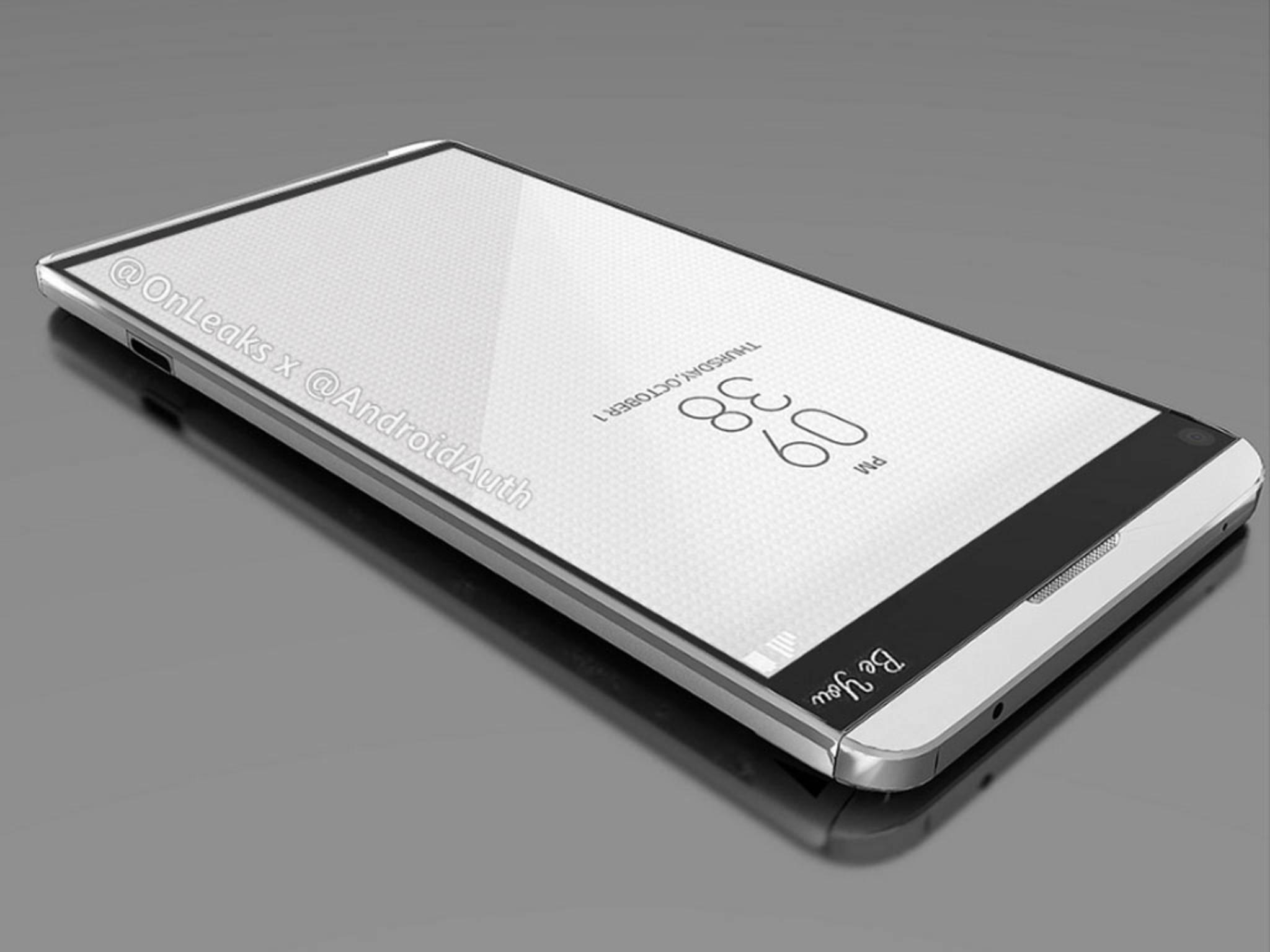 Knapp vier Wochen vor der Vorstellung gibt es erste Render-Bilder vom LG V20.