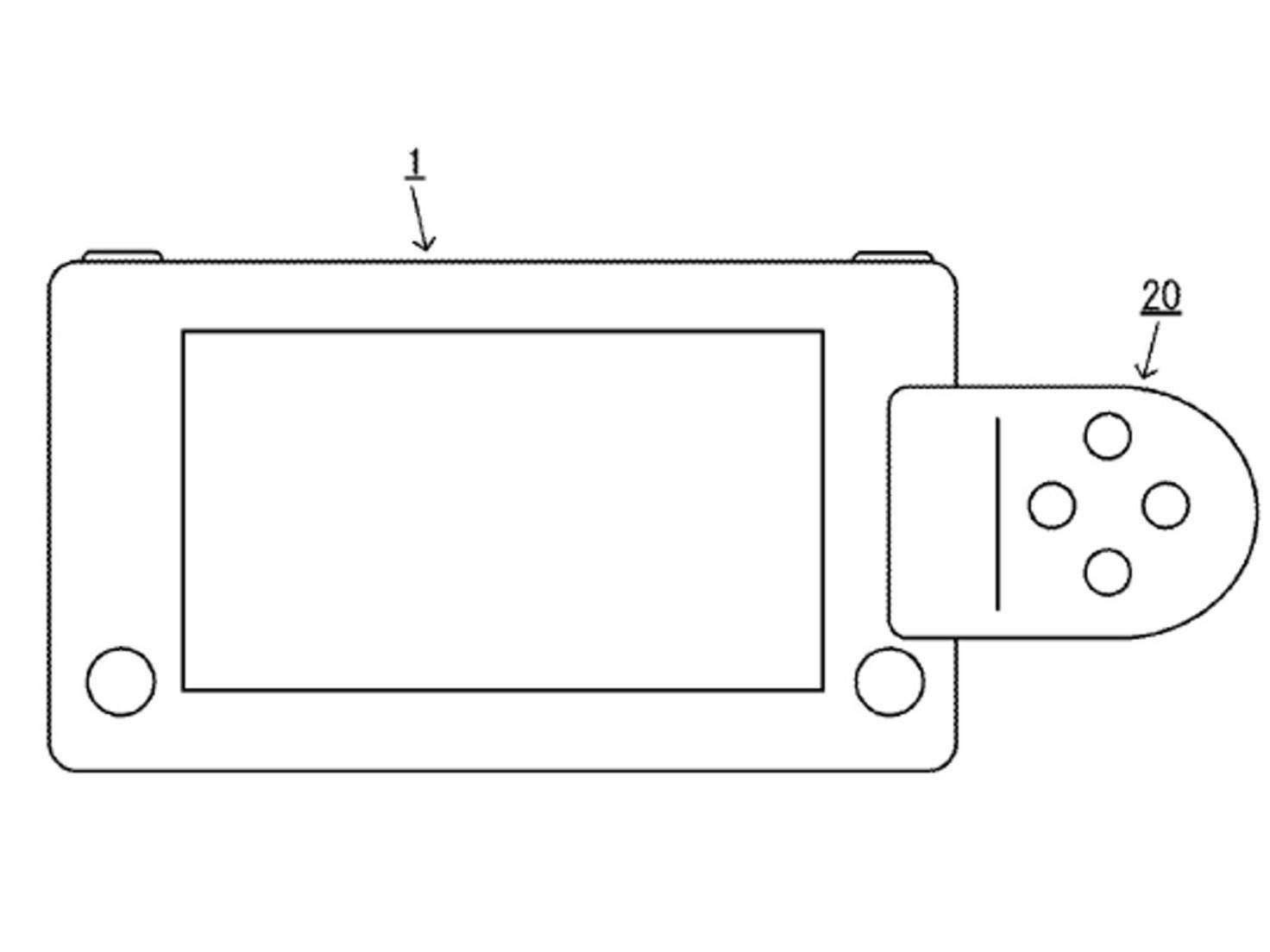 Das Patent zeigt eine grobe Skizze der Nintendo NX.